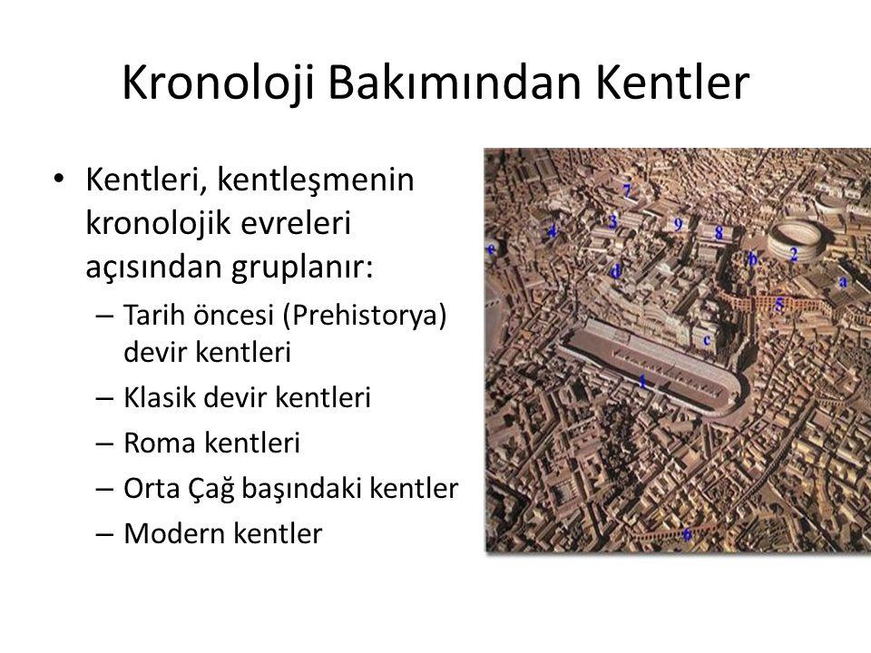 Biyolojik nitelikleri bakımından kentler Kentlerin biyolojik varlıklar gibi geliştiğini düşünenlere göre; ● Eopolis: Kent topluluğundan önceki köy topluluğunun oluşması.