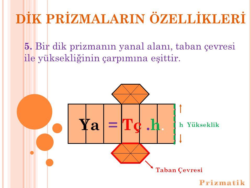 DİK PRİZMALARIN ÖZELLİKLERİ 5.
