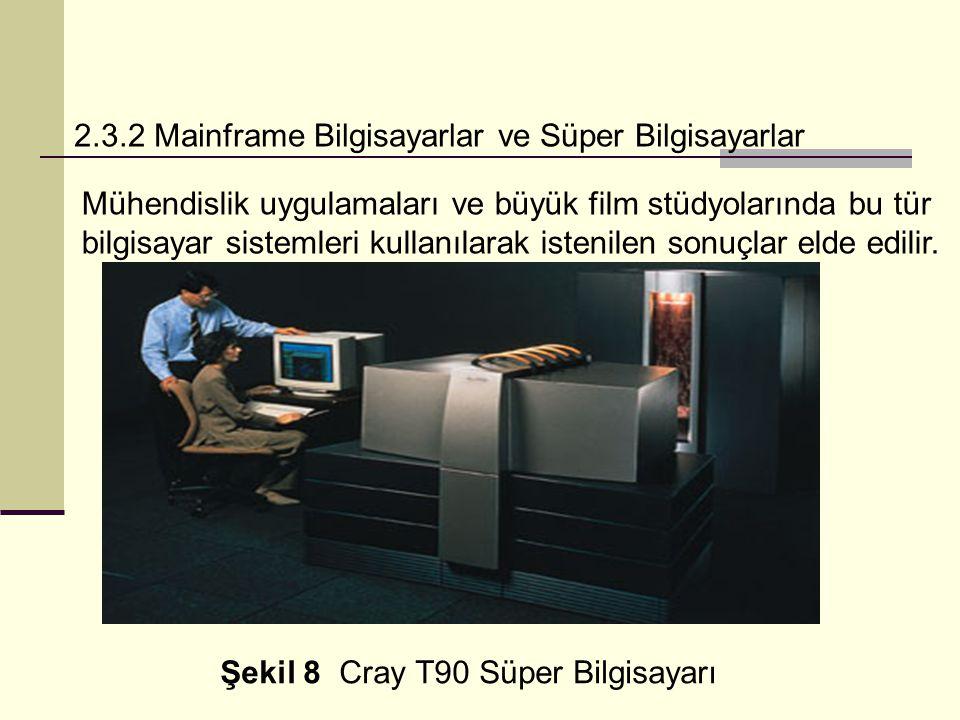 2.3.2 Mainframe Bilgisayarlar ve Süper Bilgisayarlar Mühendislik uygulamaları ve büyük film stüdyolarında bu tür bilgisayar sistemleri kullanılarak istenilen sonuçlar elde edilir.