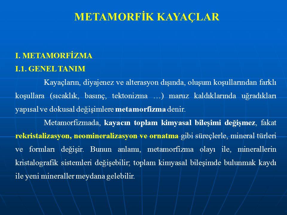 METAMORFİK KAYAÇLAR I.METAMORFİZMA I.1.