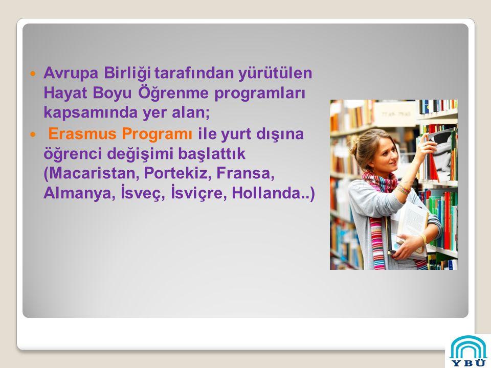 Avrupa Birliği tarafından yürütülen Hayat Boyu Öğrenme programları kapsamında yer alan; Erasmus Programı ile yurt dışına öğrenci değişimi başlattık (Macaristan, Portekiz, Fransa, Almanya, İsveç, İsviçre, Hollanda..)