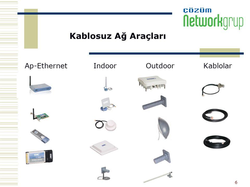 6 Kablosuz Ağ Araçları Ap-Ethernet Indoor Outdoor Kablolar