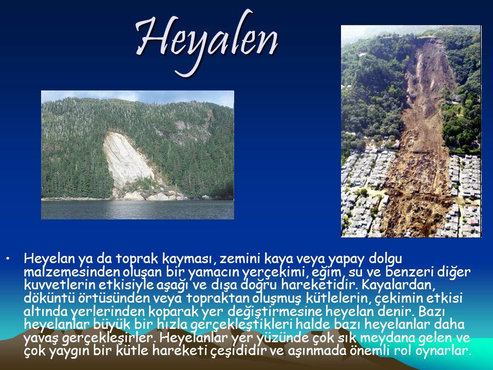 Heyalen Heyelan ya da toprak kayması, zemini kaya veya yapay dolgu malzemesinden oluşan bir yamacın yerçekimi, eğim, su ve benzeri diğer kuvvetlerin etkisiyle aşağı ve dışa doğru hareketidir.