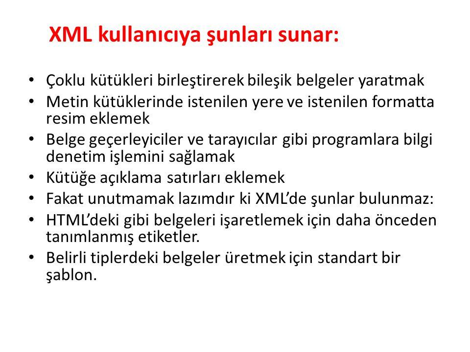 Xml pozitif yanları XML hiyerarşik bir text yapısına sahiptir.