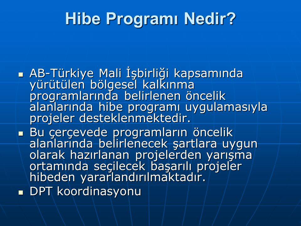 Hibe Programı Nedir? AB-Türkiye Mali İşbirliği kapsamında yürütülen bölgesel kalkınma programlarında belirlenen öncelik alanlarında hibe programı uygu