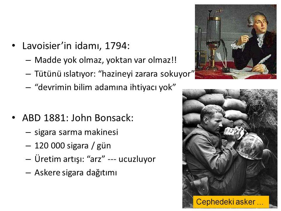 Lavoisier'in idamı, 1794: – Madde yok olmaz, yoktan var olmaz!.