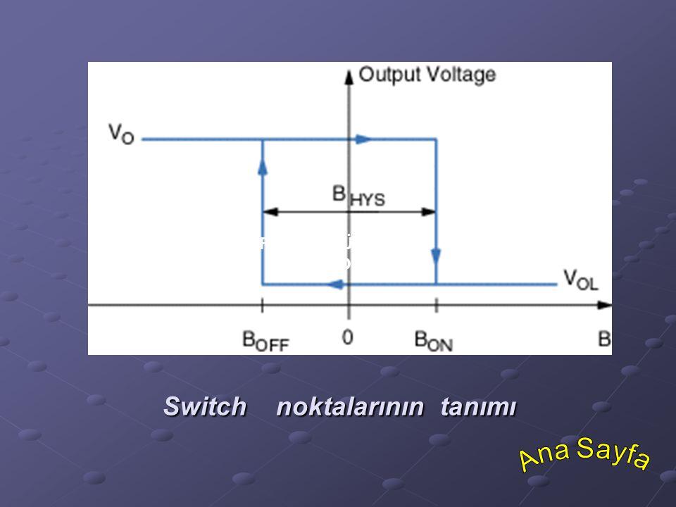 Switch noktalarının tanımı Switch noktalarının tanımı SENSÖRLERİN GÖRÜNÜŞÜ VE SİSTEM SOLÜSYONLARI