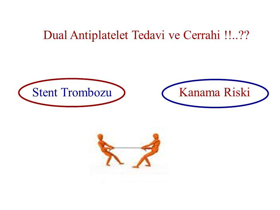 Dual Antiplatelet Tedavi ve Cerrahi !!..?? Stent Trombozu Kanama Riski