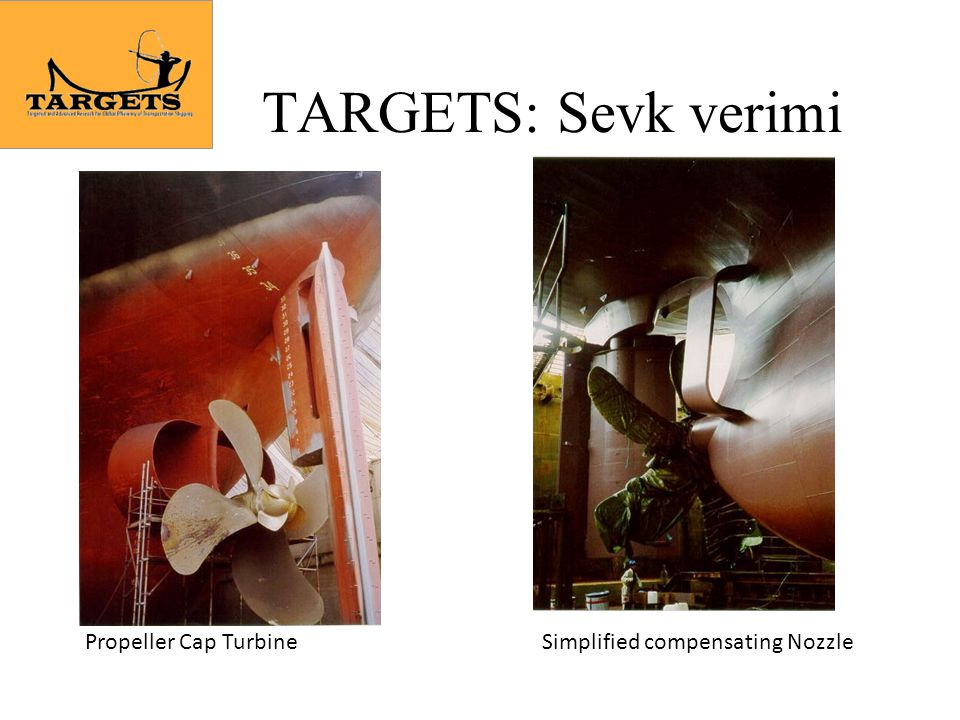 TARGETS: Sevk verimi Propeller Cap TurbineSimplified compensating Nozzle