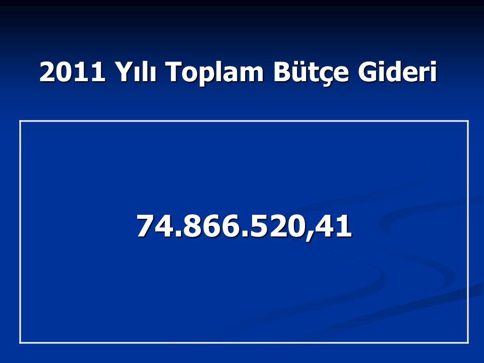 2011 Yılı Toplam Bütçe Gideri 74.866.520,41