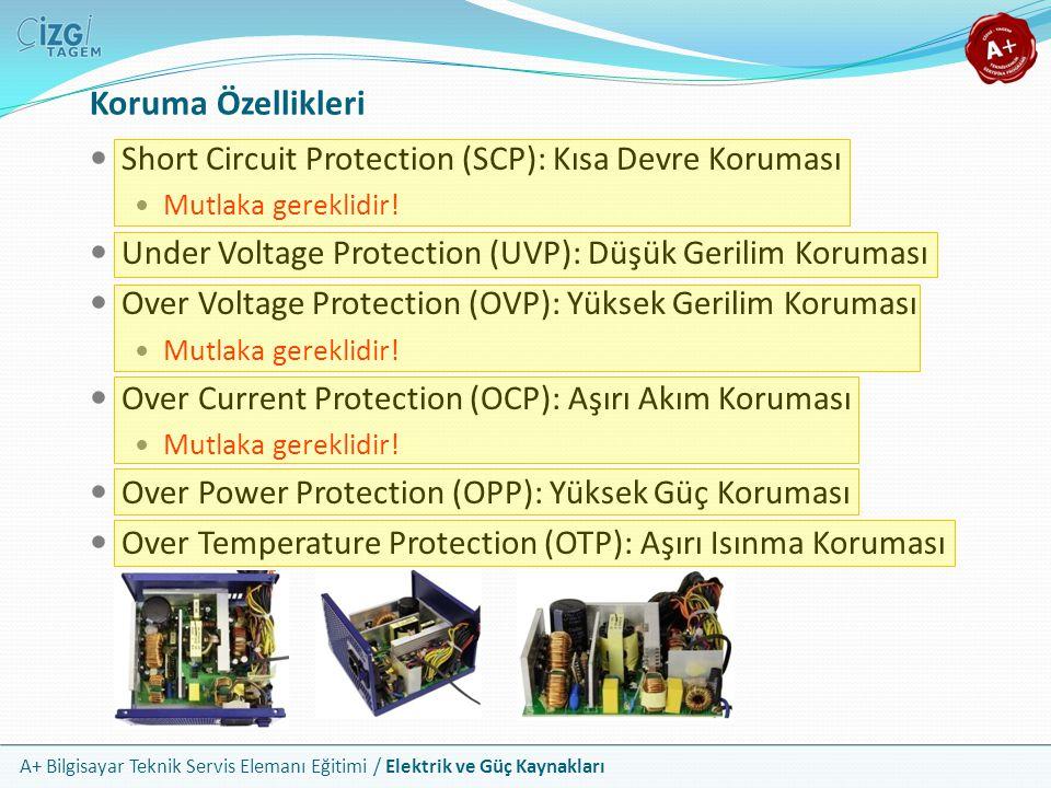 A+ Bilgisayar Teknik Servis Elemanı Eğitimi / Elektrik ve Güç Kaynakları Short Circuit Protection (SCP): Kısa Devre Koruması Mutlaka gereklidir! Under