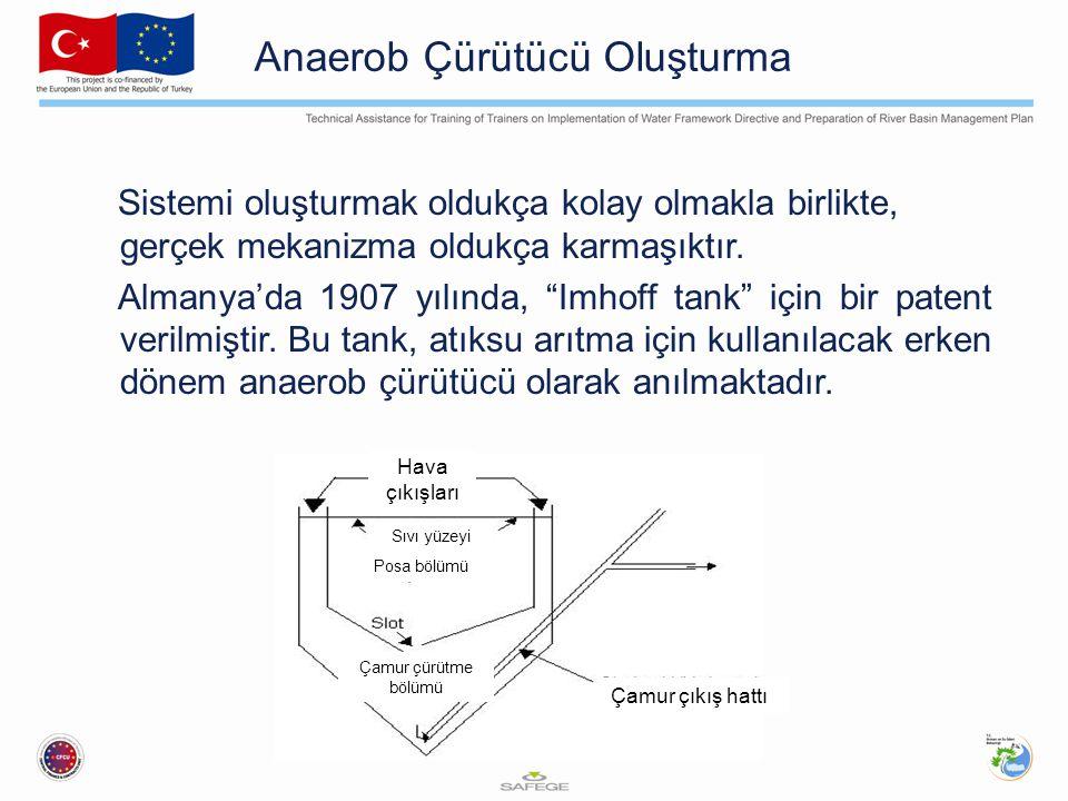 """Anaerob Çürütücü Oluşturma Sistemi oluşturmak oldukça kolay olmakla birlikte, gerçek mekanizma oldukça karmaşıktır. Almanya'da 1907 yılında, """"Imhoff t"""