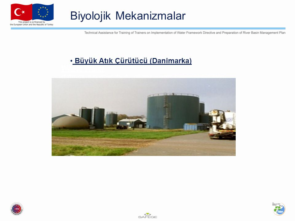 Biyolojik Mekanizmalar Waste Water If there is a possibility of the water being shed into surface water bodies or into ground water further treatment of the wastewater will be required.