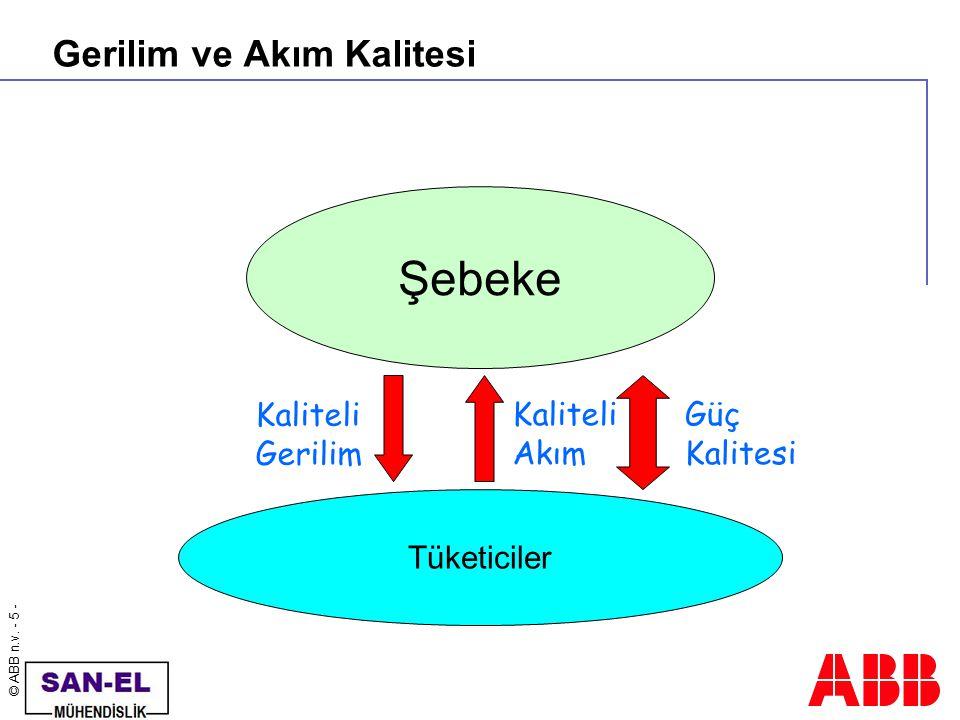 © ABB n.v. - 6 - Güç kalitesi problemlerinin dağılımı