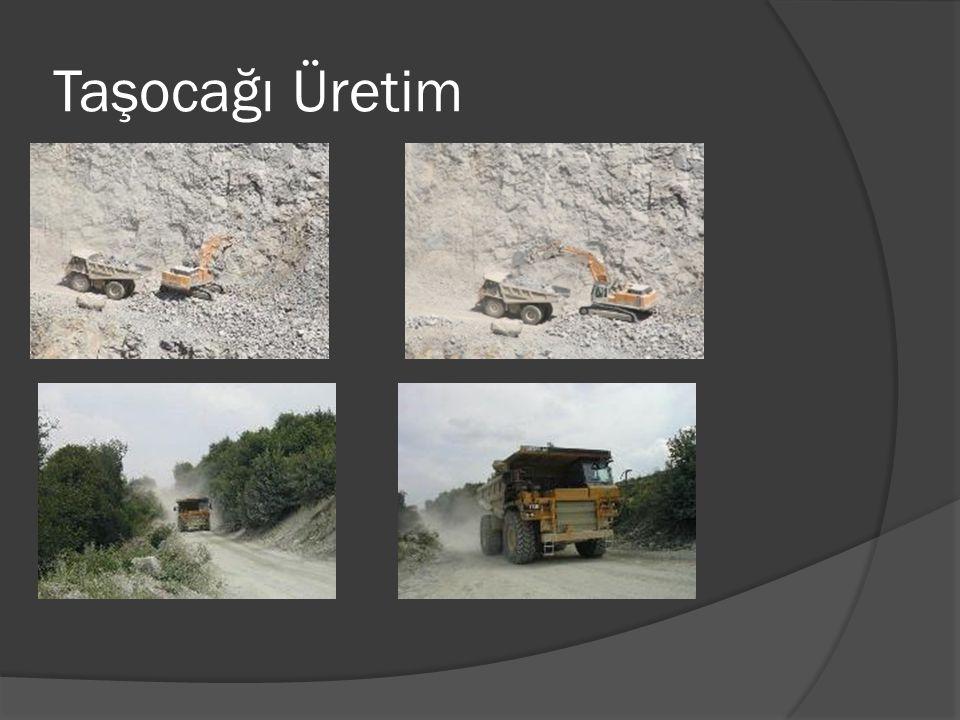 Taş çıkarma, kırma, patlatma işlemlerinde;  Galeri usulü patlatma yapılmamalıdır.  Gecikmeli patlatma yapılmalıdır.  Açık, ayna ve basamak usulü ça