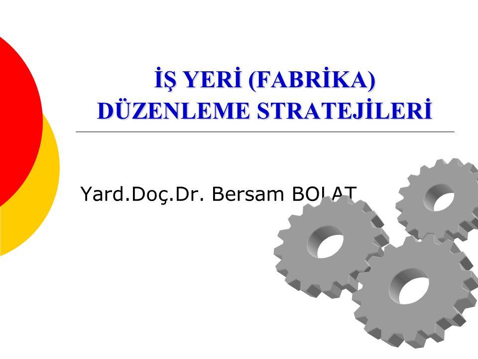 İŞ YERİ (FABRİKA) DÜZENLEME STRATEJİLERİ Yard.Doç.Dr. Bersam BOLAT