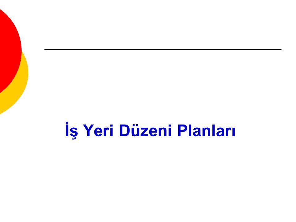 İş Yeri Düzeni Planları