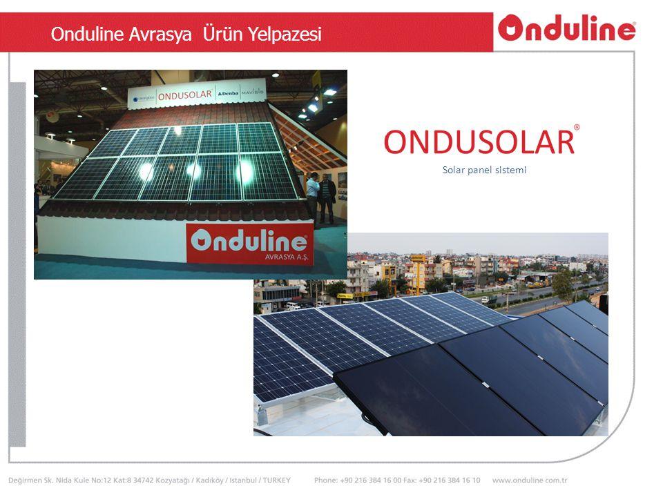 Onduline Avrasya Ürün Yelpazesi Solar panel sistemi