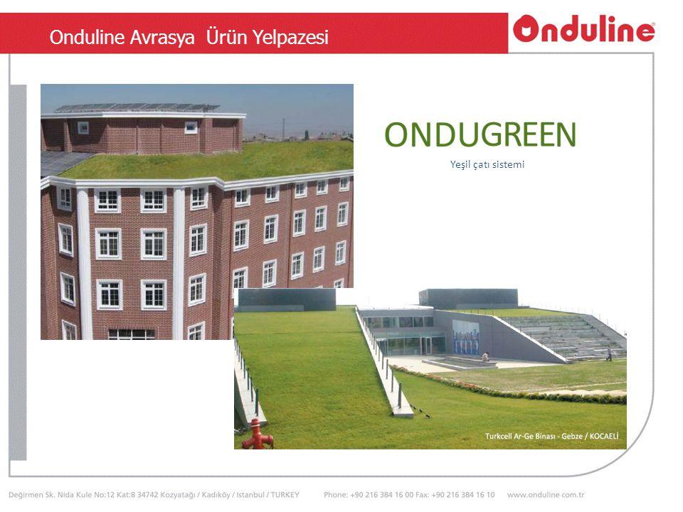 TSEN 534 Onduline Avrasya Ürün Yelpazesi e Yeşil çatı sistemi