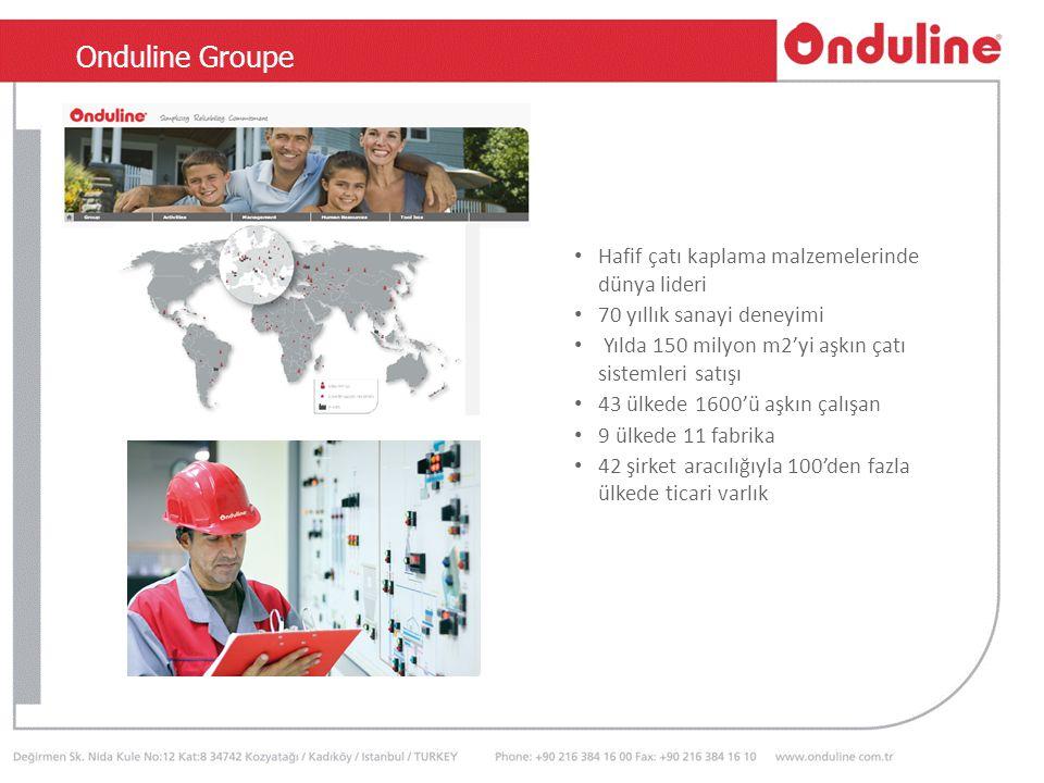 TSEN 534 Hafif çatı kaplama malzemelerinde dünya lideri 70 yıllık sanayi deneyimi Yılda 150 milyon m2'yi aşkın çatı sistemleri satışı 43 ülkede 1600'ü