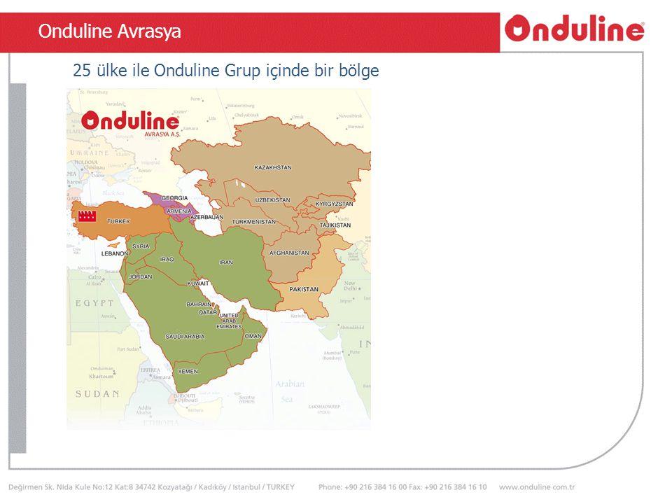 TSEN 534 Onduline Avrasya 25 ülke ile Onduline Grup içinde bir bölge