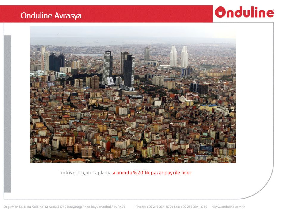 TSEN 534 Türkiye'de çatı kaplama alanında %20'lik pazar payı ile lider Onduline Avrasya