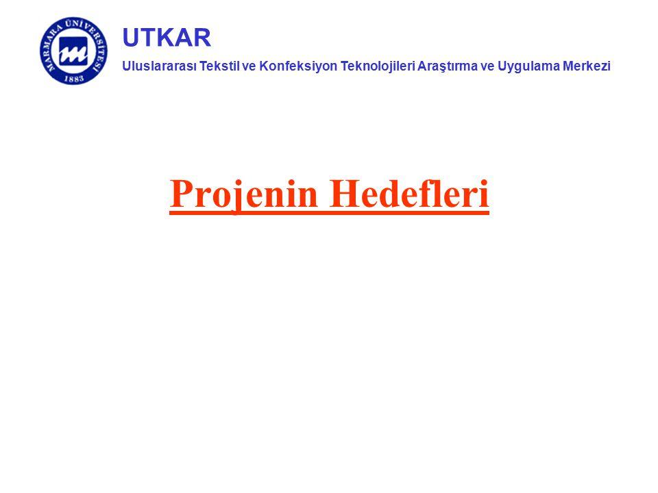 Uluslararası Tekstil ve Konfeksiyon Teknolojileri Araştırma ve Uygulama Merkezi UTKAR Projenin Hedefleri