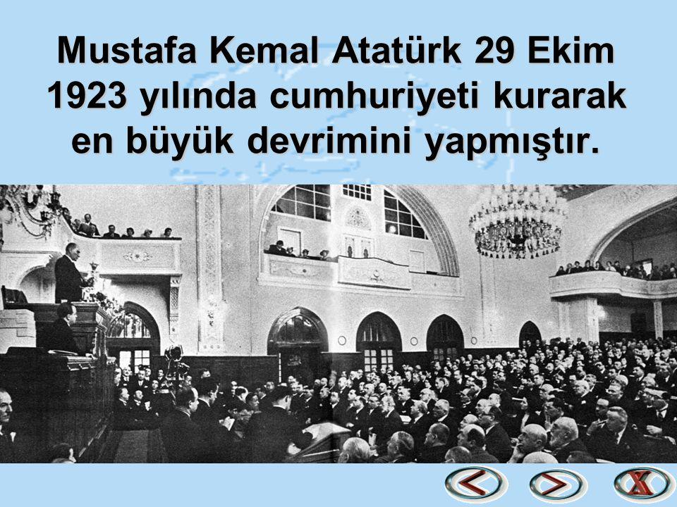 Çocuklar bu sunumla Atatürk'ün Türk halkına kazandırdıklarını sadece örnekleyebildik.