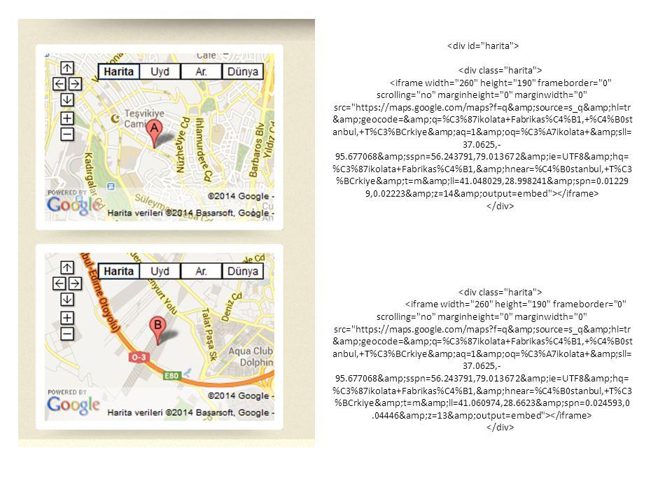 Harita Ekleme