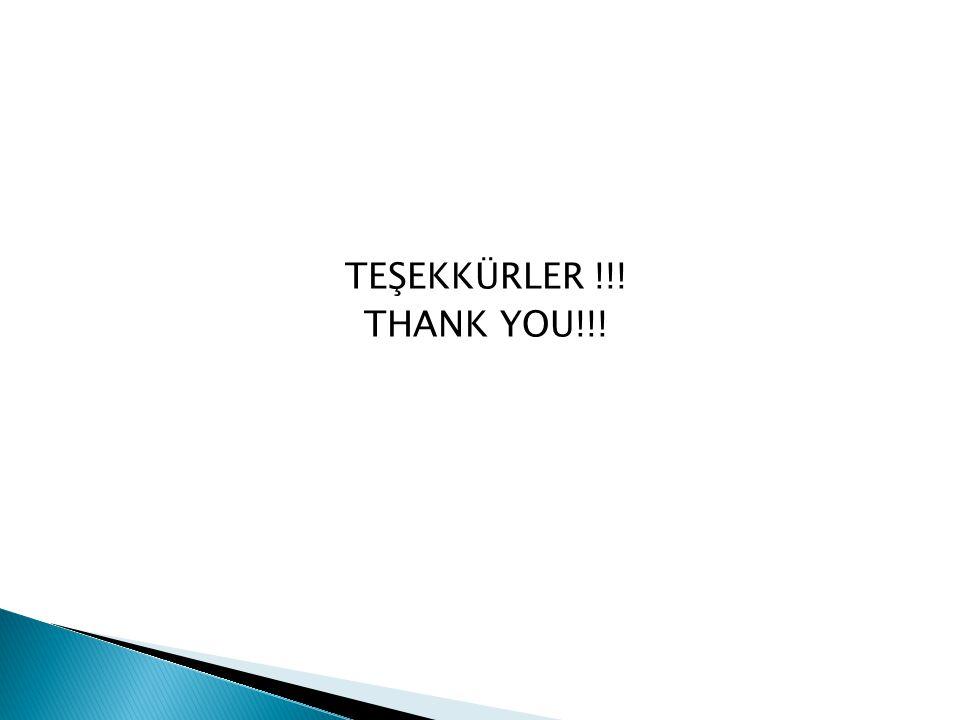 TEŞEKKÜRLER !!! THANK YOU!!!