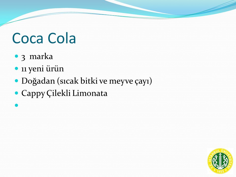 Coca Cola 3 marka 11 yeni ürün Doğadan (sıcak bitki ve meyve çayı) Cappy Çilekli Limonata