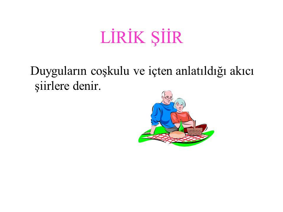 ŞİİR TÜRLERİ Lirik şiir Pastoral şiir Didaktik şiir Satirik şiir Epik şiir