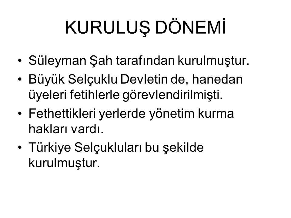 ANADOLU SELÇUKLULARI (1077-1308)