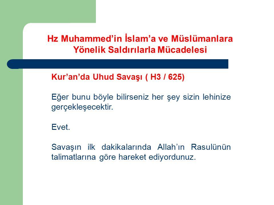 Kur'an'da Uhud Savaşı ( H3 / 625) Eğer bunu böyle bilirseniz her şey sizin lehinize gerçekleşecektir. Evet. Savaşın ilk dakikalarında Allah'ın Rasulün