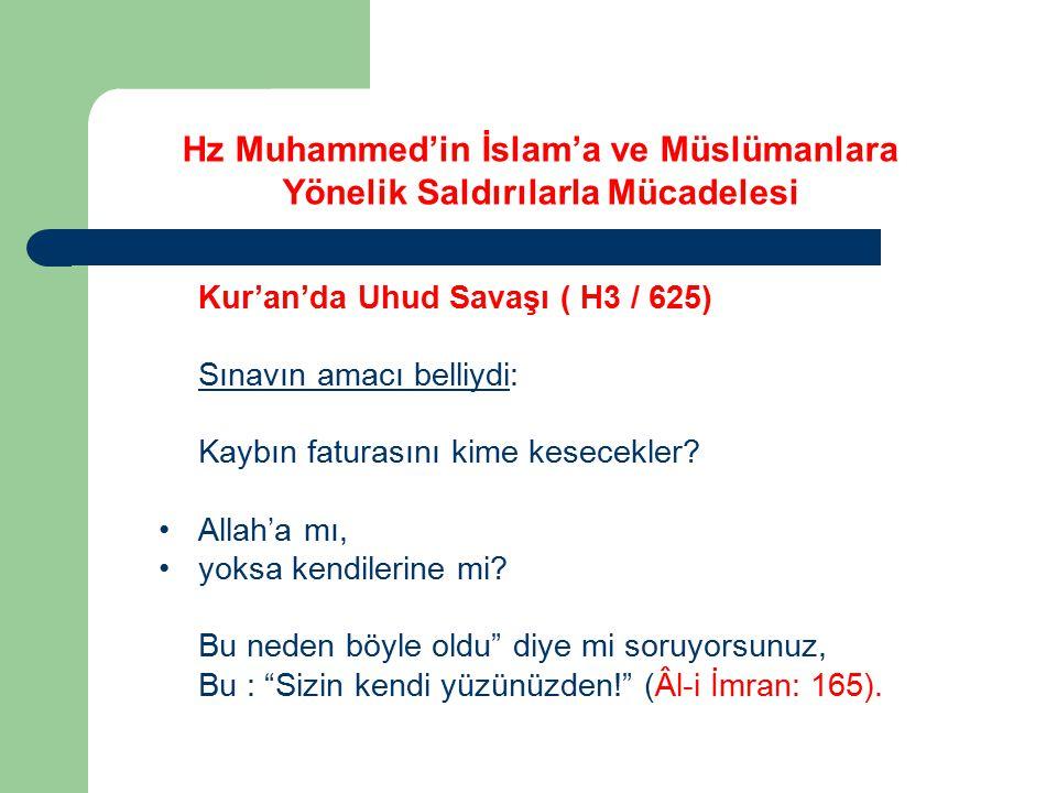 """Kur'an'da Uhud Savaşı ( H3 / 625) Sınavın amacı belliydi: Kaybın faturasını kime kesecekler? Allah'a mı, yoksa kendilerine mi? Bu neden böyle oldu"""" di"""
