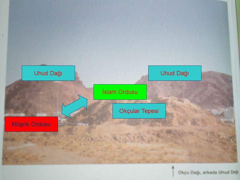 İslam Ordusu Müşrik Ordusu Okçular Tepesi Uhud Dağı