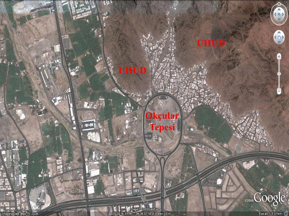 Uhud Savaşı ( H3 / 625) Ebû Dücâne vücuduyla onu bir kalkan gibi koruyor, Sa'd b.