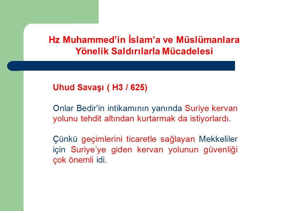 Kur'an'da Uhud Savaşı ( H3 / 625) Biz, sizin yenildiğinizi gördüğümüz anda müdahale edebilirdik.