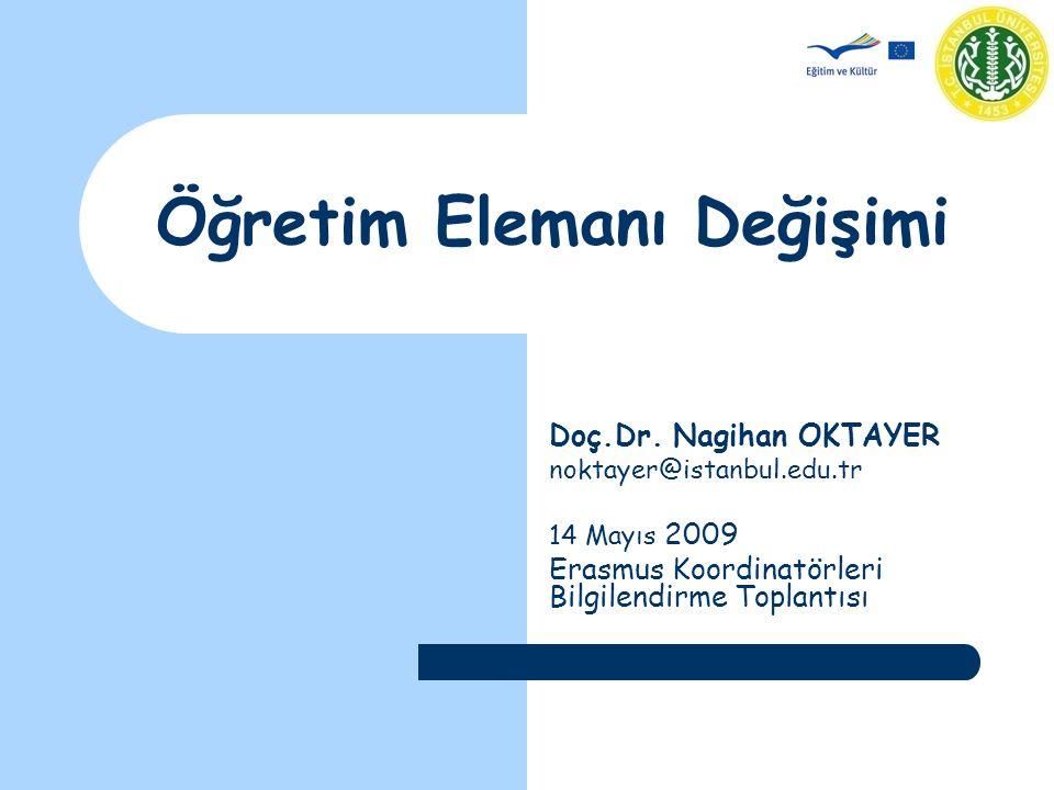 Öğretim Elemanı Değişimi Doç.Dr.