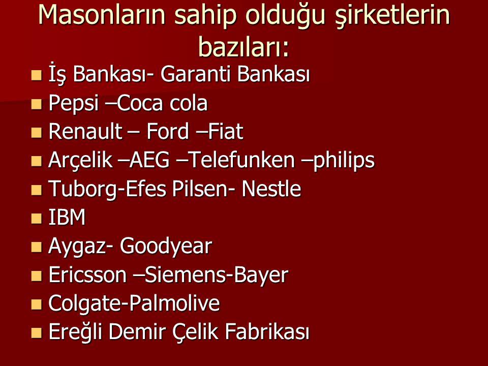 Türkiye'de tanınan masonlar: GAZİ OSMAN PAŞA GAZİ OSMAN PAŞA NAMIK KEMAL NAMIK KEMAL 5. MURAT 5. MURAT REŞAT NURİ GÜNTEKİN REŞAT NURİ GÜNTEKİN ZİYA GÖ