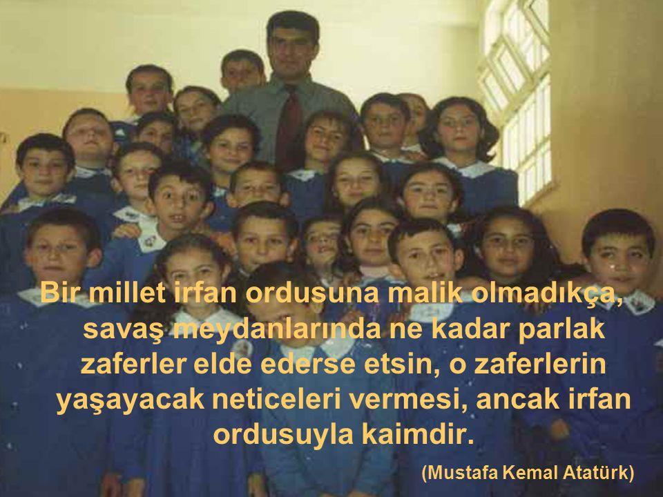 En önemli ve feyizli görevlerimiz, milli eğitim işleridir.