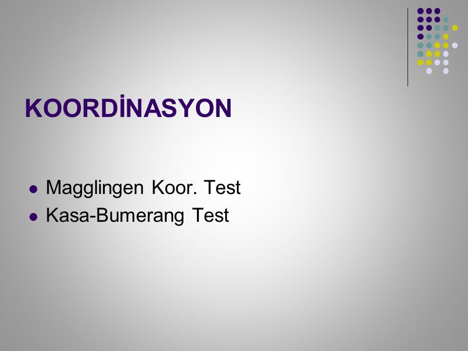 KOORDİNASYON Magglingen Koor. Test Kasa-Bumerang Test