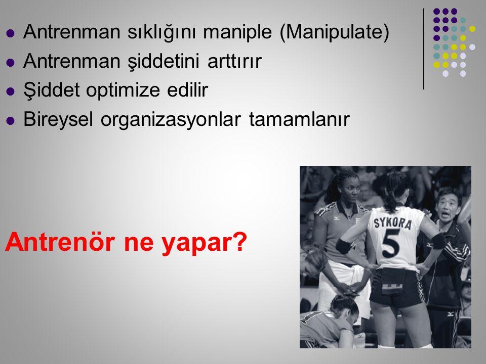 Spora özgü özellikler konusu: Dayanıklılık adaptasyonu Kuvvet ve gücün dayanıklılığa transferi ??.