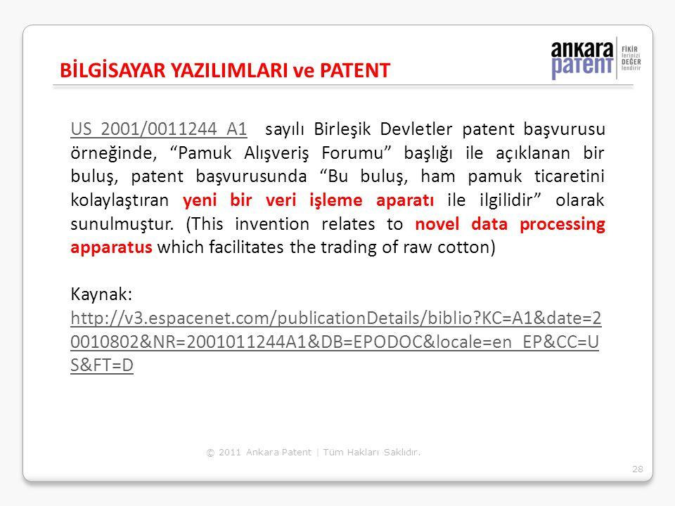 """US 2001/0011244 A1US 2001/0011244 A1 sayılı Birleşik Devletler patent başvurusu örneğinde, """"Pamuk Alışveriş Forumu"""" başlığı ile açıklanan bir buluş, p"""