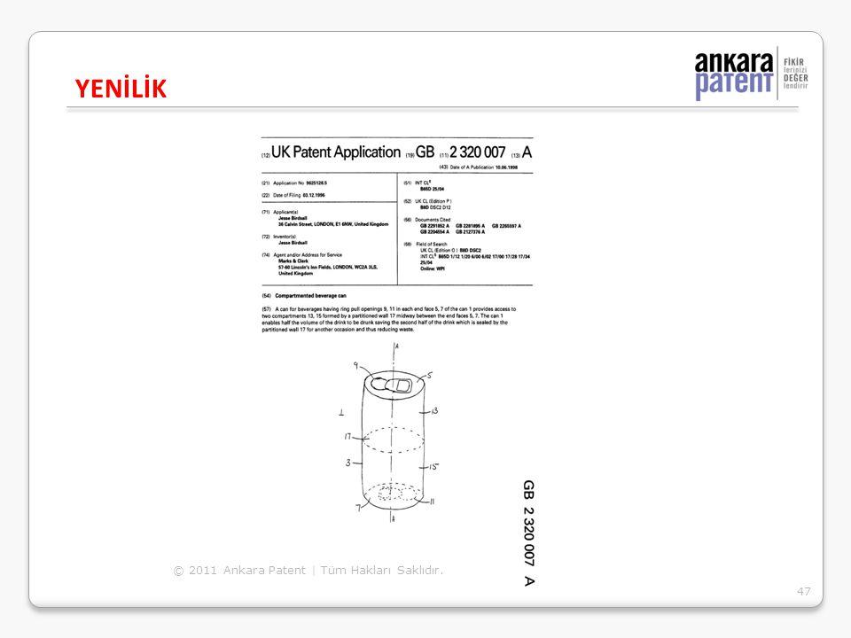 YENİLİK 47 © 2011 Ankara Patent | Tüm Hakları Saklıdır.