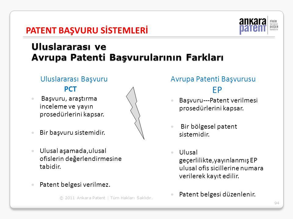 Uluslararası ve Avrupa Patenti Başvurularının Farkları Uluslararası Başvuru PCT Başvuru, araştırma inceleme ve yayın prosedürlerini kapsar. Bir başvur
