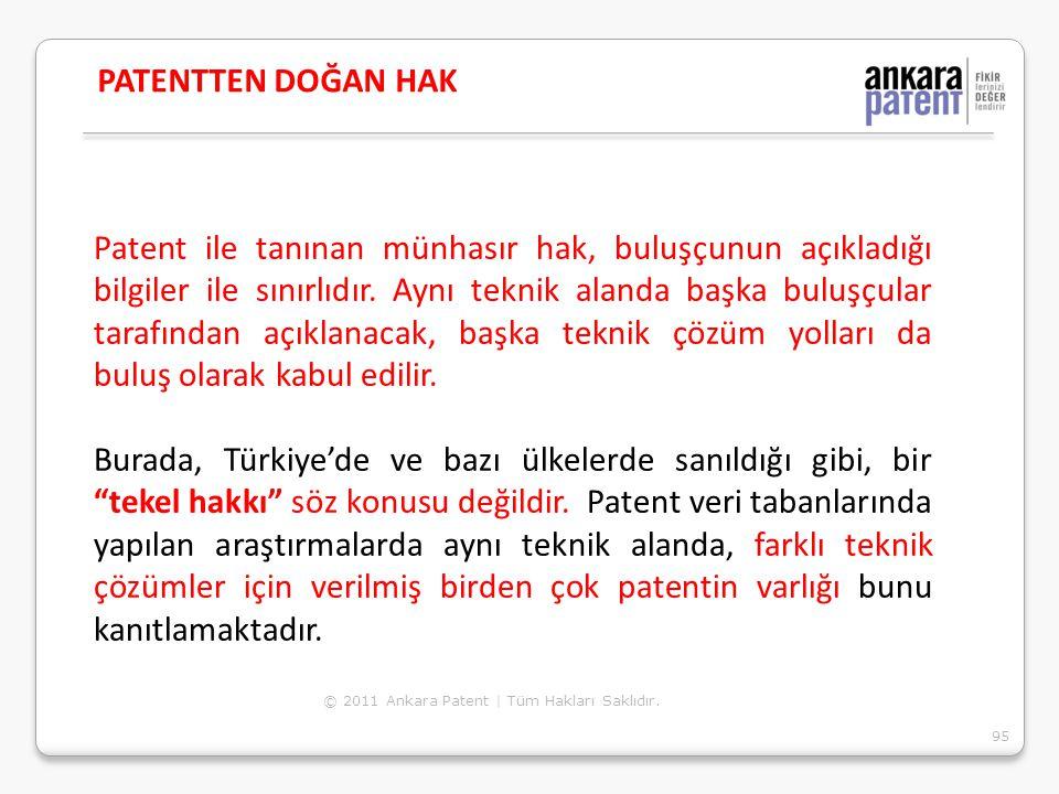 Patent ile tanınan münhasır hak, buluşçunun açıkladığı bilgiler ile sınırlıdır. Aynı teknik alanda başka buluşçular tarafından açıklanacak, başka tekn