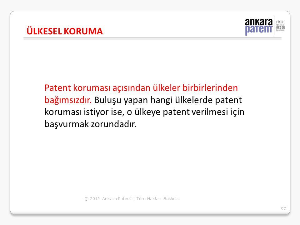 Patent koruması açısından ülkeler birbirlerinden bağımsızdır. Buluşu yapan hangi ülkelerde patent koruması istiyor ise, o ülkeye patent verilmesi için
