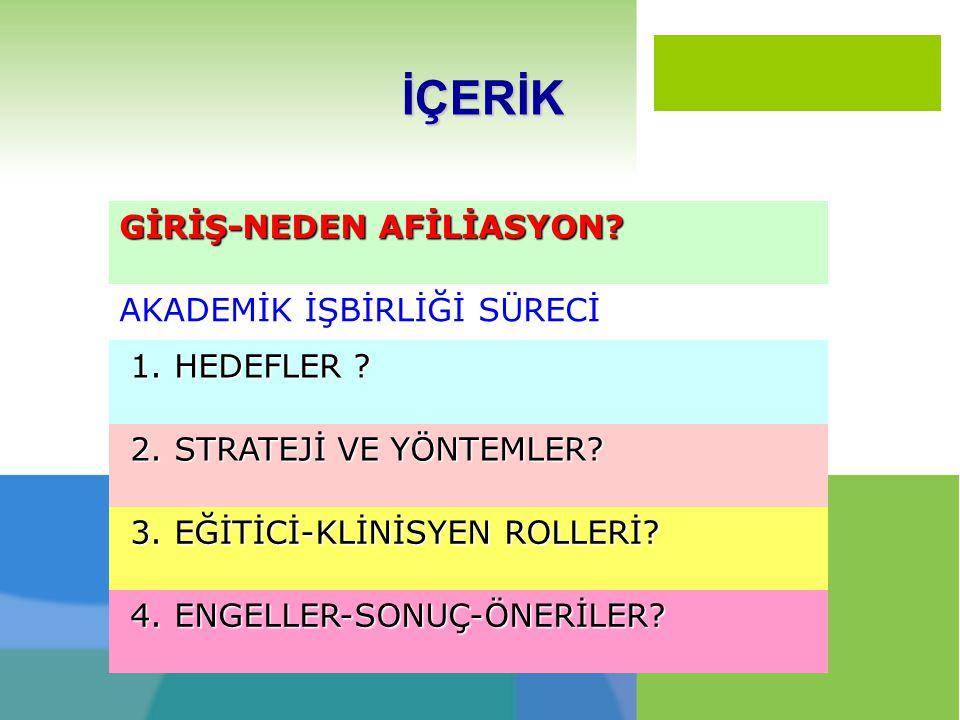 GİRİŞ- Neden Afiliasyon.