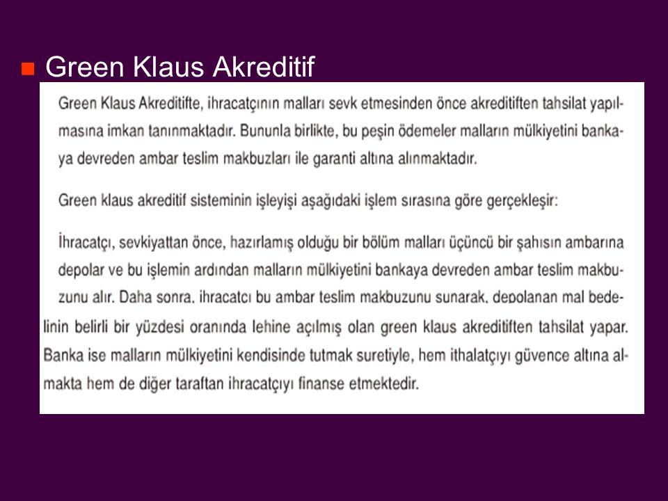 Green Klaus Akreditif